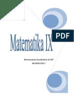 Modul Matematika Kelas IX MTs Albidayah