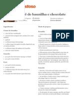 Pavê de baunilha e chocolate - Imprimir