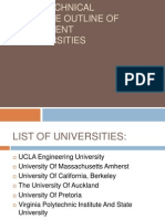 Course Outline of Different Universities
