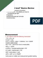 Basics Review AP Chem