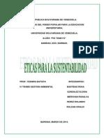 Eticas Para La Sustentabilidad (Trabajo)