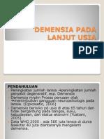 Demensia Pada Lanjut Usia