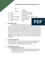 PROGRAMACIÓN CURRICULAR ANUAL DEL ÁREA DE COMUNICACIÓN