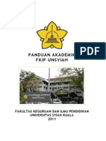 Buku Pedoman Akademik FKIP Unsyiah 2011
