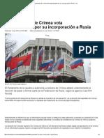 El Parlamento de Crimea vota unánimemente por su incorporación a Rusia – RT