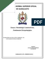 ENSAYO, Metodología constructivista. Fundamento psicopedagógico2