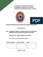 LABORATORIO N° 1 DE ENSAYOS DE MOTORES DE COMBUSTION INTERNA