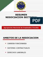 Resumen Negociacion Sectorial Avances y Pendientes 2