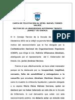 CARTA DE FELICITACION