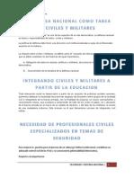 La Defensa Nacional Como Tarea de Civiles y Militares