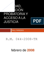 Oralidad, Actuacion Probatoria y Acceso a La Justicia - Paul Paredes