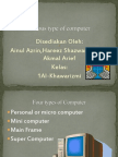 Various Type of Computer