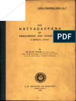 The Natya Darpana of Ramachandra and Gunachandra a Critical Study - K. H. Trivedi