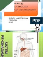 Sistem Penghadaman&Pemakanan Dan Metabolisma