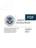DHS Media Monitoring Analyst Manual (August 2013)