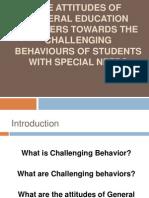 The Attitudes of General Education Teachers (2)