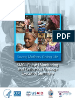 Saving Mothers, Giving Life Phase 1 Monitoring and Evaluation Findings: