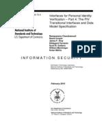 Sp800!73!3 PART4 Piv Transitional Interface Data Model Spec