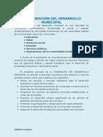 LA PLANEACIÓN DEL DESARROLLO MUNICIPAL