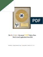 Walkathon-The Hip Hop Movement Gold Merit Award Application 2014