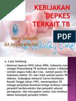 Kebijakan Depkes Terkait TB