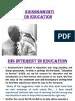 BSC Krishnamurty on Education