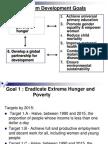 millenium developmental goal #1