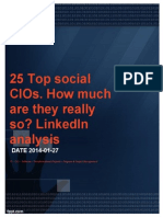 25 Top Social CIOs. How Much Are They Really So? LinkedIn Analysis