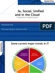 Mobile, Social, Unified and in the Cloud