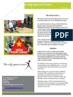 Mfg Sports Centre Newsletter No1
