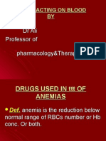 Drugs Used in Ttt of Anaemias Lec6