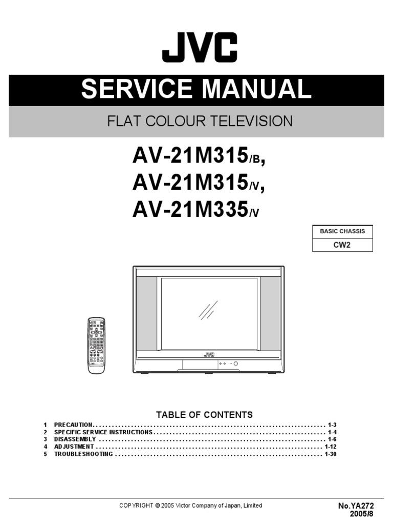 JVC AV-21M315_M335-service_manual.pdf   Alternating Current   Cathode Ray  Tube