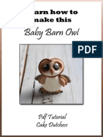 Barn Owl Tutorial by Cake Dutchess