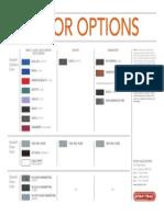 Urethane Dumbbell Sets Color Chart