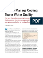 Cooling Tower  Water Quality Management