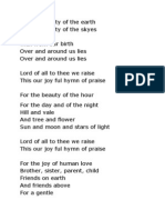 For the Beauty of the Earth lyrics