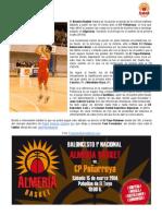 Previa Almería Basket - CP Peñarroya | Sábado 15/03/14 19h Pabellón El Toyo-Retamar