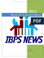March 2013 Current Affairs