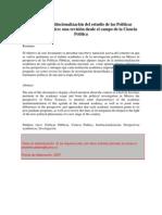 Llegada e institucionalización del estudio de las Políticas Públicas en México