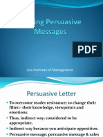 6.Writing Persuasive Message