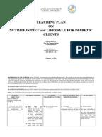 diabetes teaching plan Dm-health teaching plan - free download as word doc (doc), pdf file (pdf), text file (txt) or read online for free.