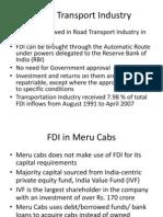 FDI in Transport Industry