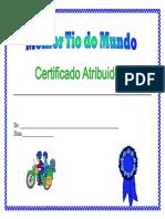 Certificado Tio Cores