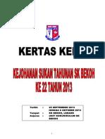 Kertas Kerja Sukan Tahunan SKB 2013