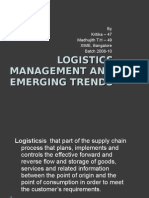 Importance of Logistics management and emerging trends