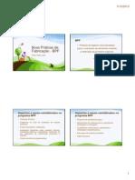 Aula 4 - Boas Práticas de Fabricação - BPF