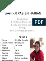 Daftar Pasien Harian Brian