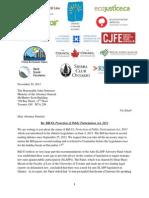 Anti Slapp Legislation Ontairo John Gerretsen LetterAG-SLAPPs-2013