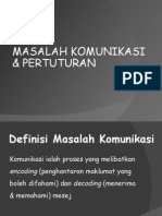 MASALAH KOMUNIKASI & PERTUTURAN