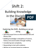 shift 2 - building knowledge in the disciplines